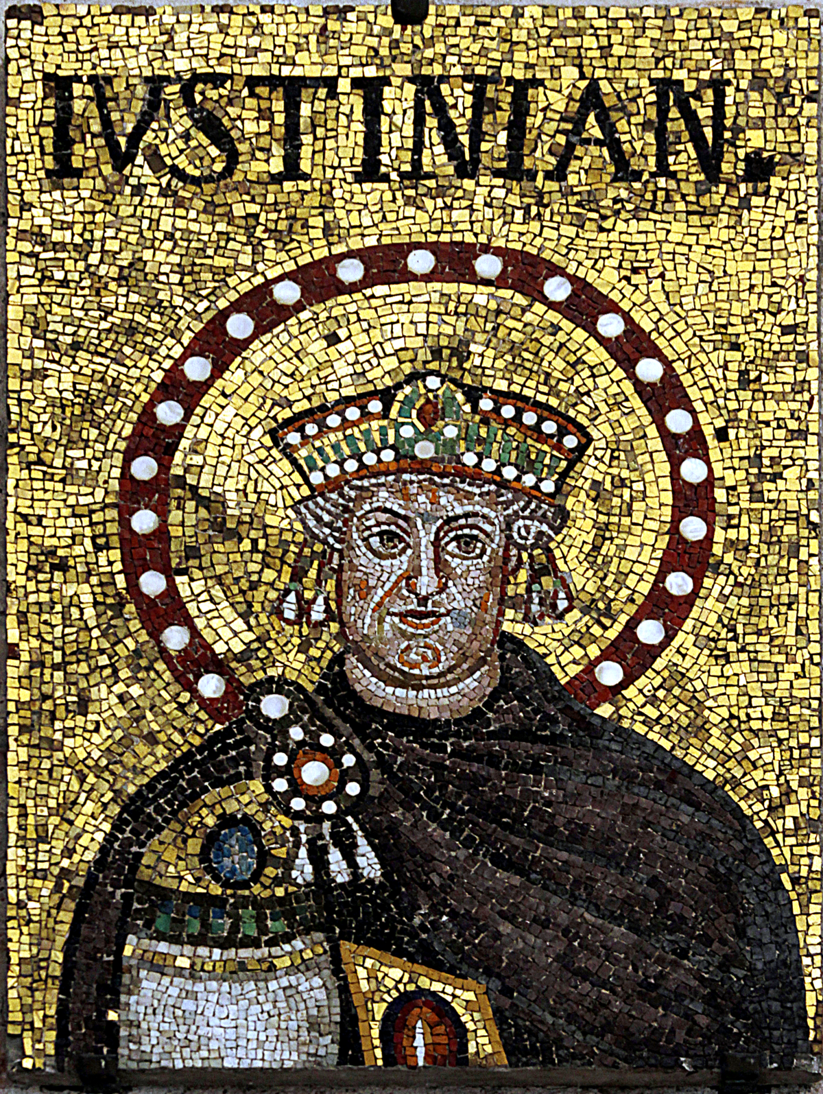 Mosaic of Justinian I - Sant'Apoilinare Nuovo - Ravenna 2016.png