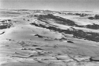 Mount Morning - Aerial view of Mount Morning from the northeast.