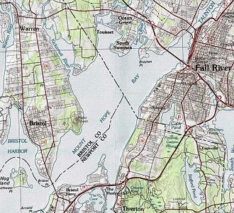 Mount Hope Bay - Map of Mount Hope Bay