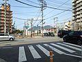 Mount Tachibanayama and Kagoshima Main Line near Kashii-Miyamae Station.jpg