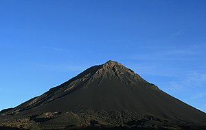 Geography of Cape Verde - Mount Fogo, the highest point in Cabo Verde.