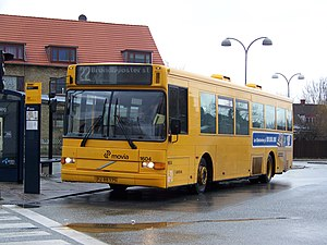 Hvidovre station - Arriva Volvo bus waiting at Hvidovre station on Movia route 22 toward Brøndbyøster station