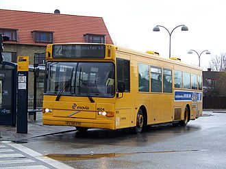 Movia (transit agency) - Arriva Volvo bus as Movia route 22 toward Brøndbyøster station. Here seen at Hvidovre station.