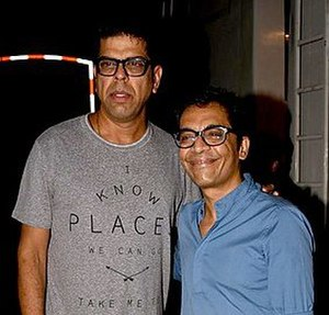 Murali Sharma - Sharma and Vrajesh Hirjee on the sets of Golmaal Again in 2017