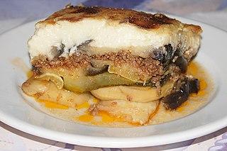 Moussaka Eggplant- (aubergine) or potato-based dish