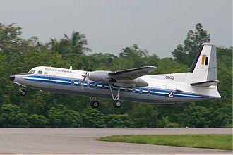 Myanmar Air Force - A Myanmar Air Force Fokker F27