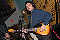 Mystic Braves - bassists playing Phantom Teardrop Hollow Bass - Bunk Bar (2015-06-04 23.46.49 by Jay Roc).jpg