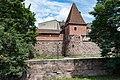 Nürnberg, Stadtbefestigung, Frauentormauer, Mauerturm Rotes N 20170616 003.jpg