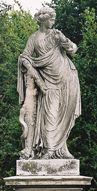 Angerona -  Angerona   statue in the Schönbrunn palace in Vienna