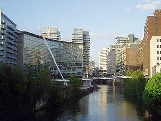 Trinity Bridge, Greater Manchester footbridge in Greater Manchester, United Kingdom