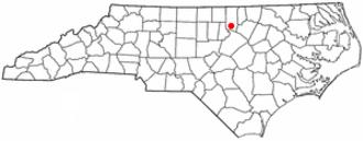 Creedmoor, North Carolina - Image: NC Map doton Creedmoor