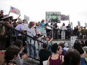 "New Orleans. ""BP Oil Flood"" Protest,..."