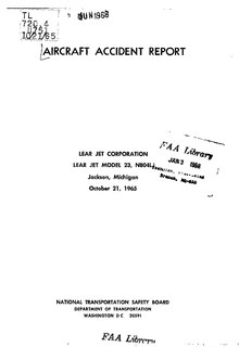 NTSB Report, 1967 Lear Jet crash.pdf