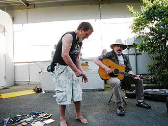 Artis the Spoonman - Artis and Jim Page in 2009