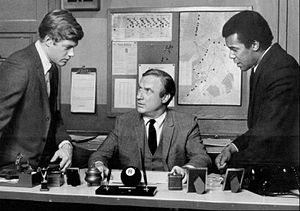 N.Y.P.D. (TV series) - The cast from left: Frank Converse, Jack Warden and Robert Hooks, 1969.