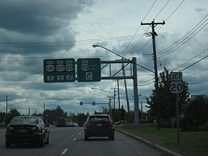 New York State Route 240 - NY 240 and NY 277 southbound at US 20 and CR 200 in Orchard Park