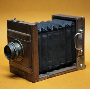 Analog photography - A wet plate camera made in 1866.