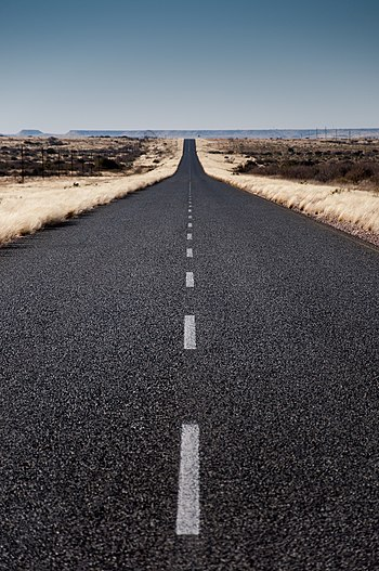 English: Namibian highway