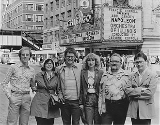 Napoléon (1927 film) - A group of friends gathers outside of the Chicago Theatre in 1981 to see Francis Ford Coppola's version of Napoléon