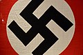 Nazi Germany Third Reich WW2 National flag with swastika (close-up, print on textile) Forsvarsmuseet Army Musem Oslo, Norway 2019-03-31 DSC01763 2019-02.jpg