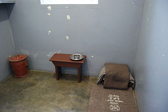 Long Walk to Freedom - Nelson Mandela's prison cell on Robben Island