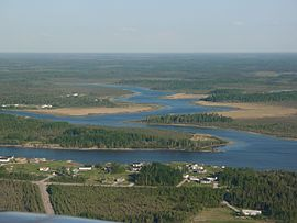 Nelson River near Norway House, from the air.jpg