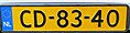Netherlands diplomatic license plate CD-83-40.jpg