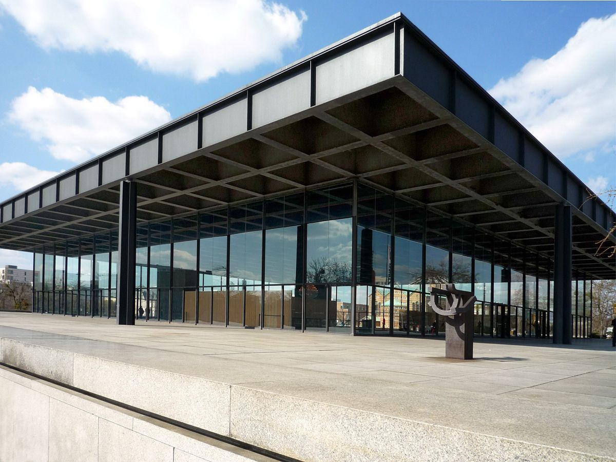 Neue nationalgalerie wikipedia - Skelettbau architektur ...