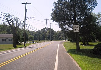 New Lisbon, New Jersey - Center of New Lisbon along Four Mile Road (CR 646)