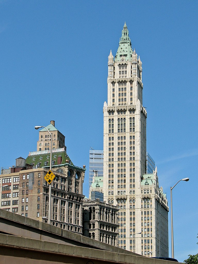 file new york city woolworth building wikimedia commons. Black Bedroom Furniture Sets. Home Design Ideas