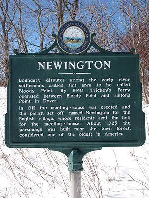 Newington, New Hampshire - State historical marker