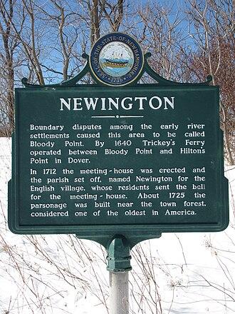 Newington, New Hampshire - State historical marker