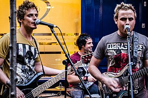 Next of Kin (band) - Next of Kin playing in Neals Yard in London in 2012