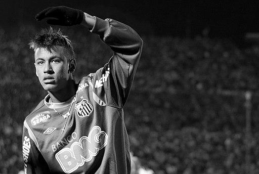 Neymar - Santos b&w