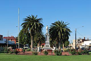 Nhill Town in Victoria, Australia