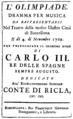 Niccolò Piccinni - Olimpiade - titlepage of the libretto - Barcelona 1769.png