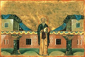 Nicetas of Medikion - Miniature from the Menologion of Basil II