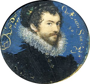1619 in art - Nicholas Hilliard self-portrait (1577)