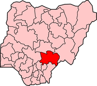 Location of Benue State in Nigeria