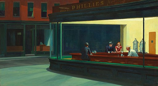 Nighthawks by Edward Hopper 1942