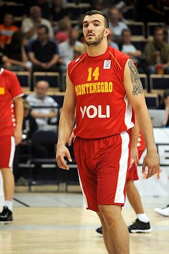 Montenegro national basketball team - Nikola Peković with Montenegro in 2010
