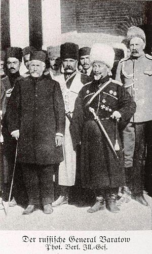 Mohammad Vali Khan Tonekaboni - Nikolai Baratov (right) Mohammad Vali Khan Tonekaboni (left) at the Caucasus front.