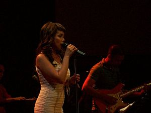 "Nina (Nina album) - Nina performing ""Somewhere Down the Road"" at Hard Rock Cafe in 2010."