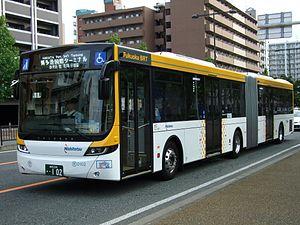 Articulated bus - Image: Nishitetsu bus 0102