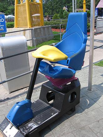 Nitro (Six Flags Great Adventure) - Nitro's test seat