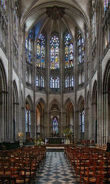 Évreux Cathedral, Eure, Normandie, France. Gothic choir.