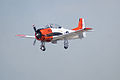 North American T-28B Trojan Navy N63NA Landing 01 TICO 13March2010 (14597411674).jpg