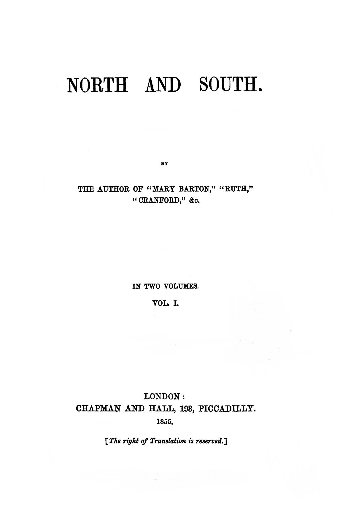 North and South (Gaskell novel) - Wikipedia