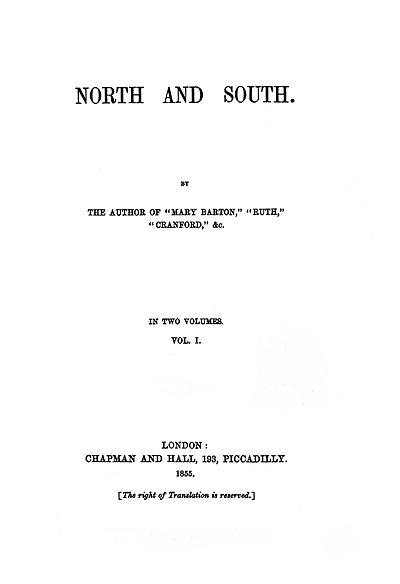 Picture of a book: North And South