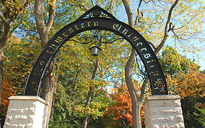 """The Arch,"" the main entrance to the Evanston campus of Northwestern University"